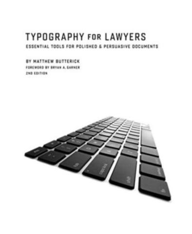 Cover of Typography for Lawyers.